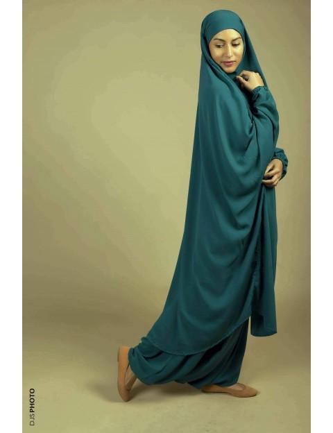 Jilbab Sarouel Vert canard