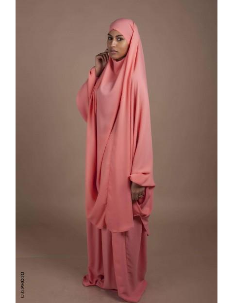 Jilbab Jupe Corail pastel