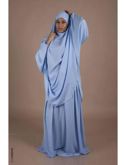 Jilbab Jupe Bleu pastel