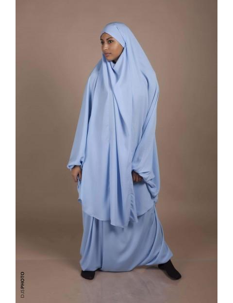 Jilbab Sarouel Bleu pastel