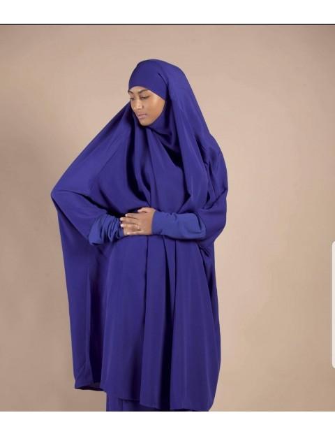 Jilbab Sarouel Bleu Indigo