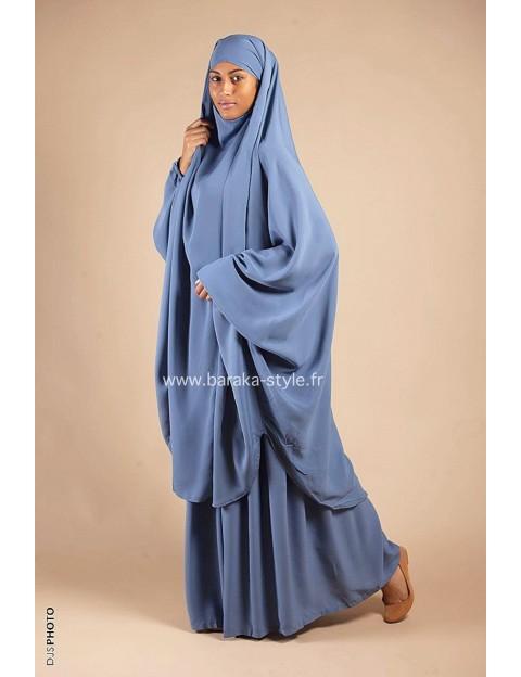 Jilbab Jupe Bleu-ciel