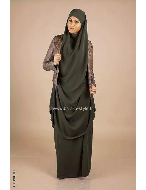 Jilbab Jupe Vert kaki foncé