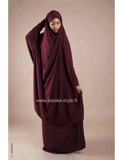 Jilbab Jupe Rouge Bordeaux