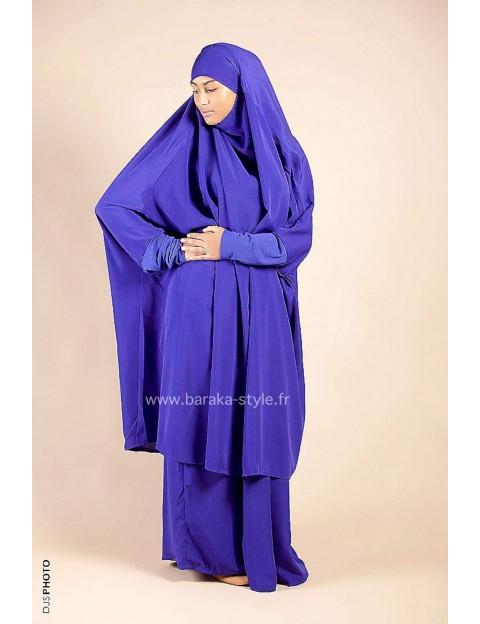 Jilbab Jupe Bleu Indigo