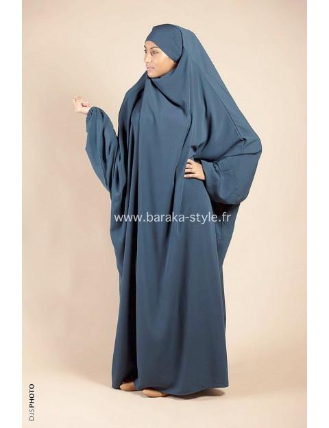 Jilbab Une pièce Bleu-vert