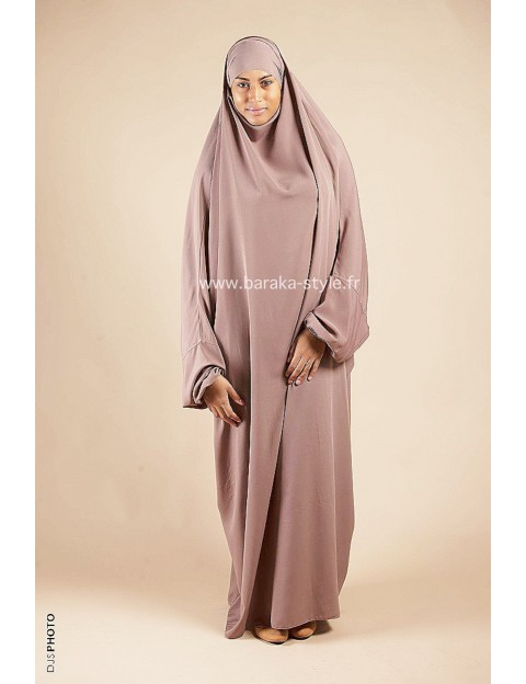 Jilbab Une pièce Taupe