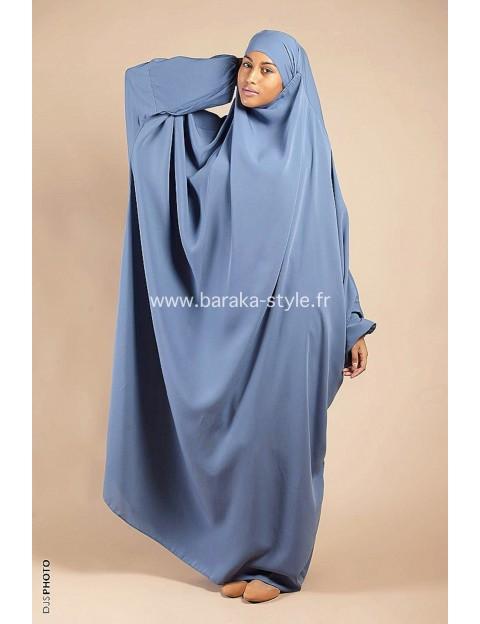 Jilbab Une pièce Bleu-ciel