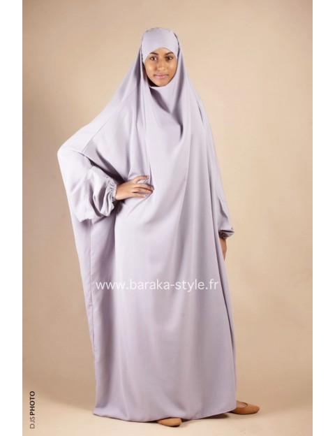 Jilbab Une pièce Gris perle