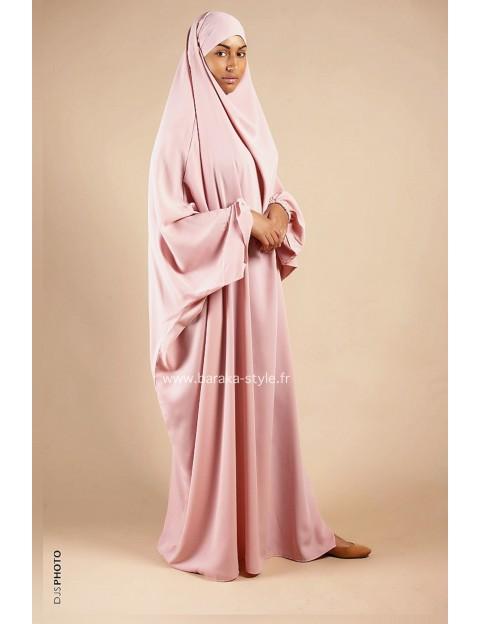 Jilbab Une pièce Rose poudré