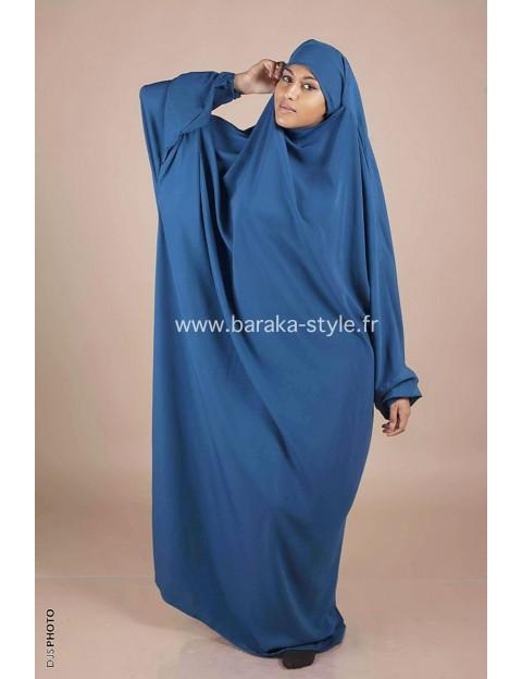 Jilbab Une pièce Bleu canard