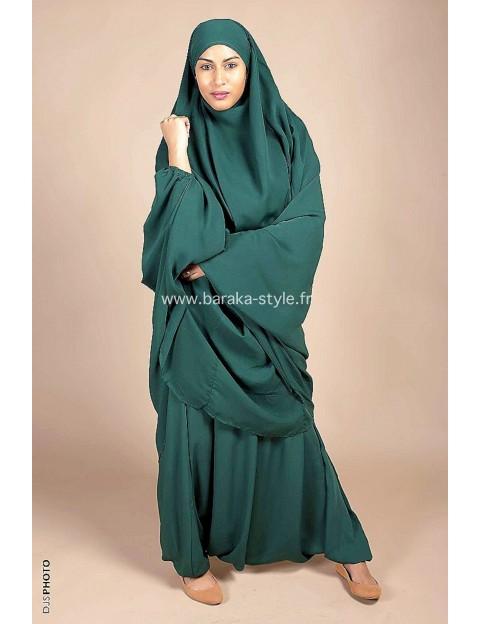Jilbab Sarouel Vert sapin