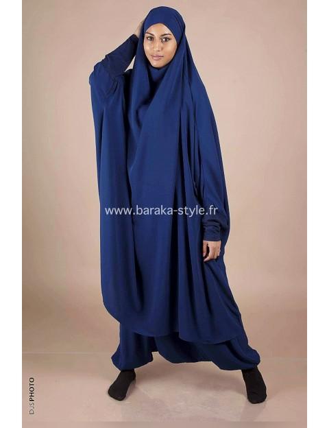 Jilbab Sarouel Bleu électrique