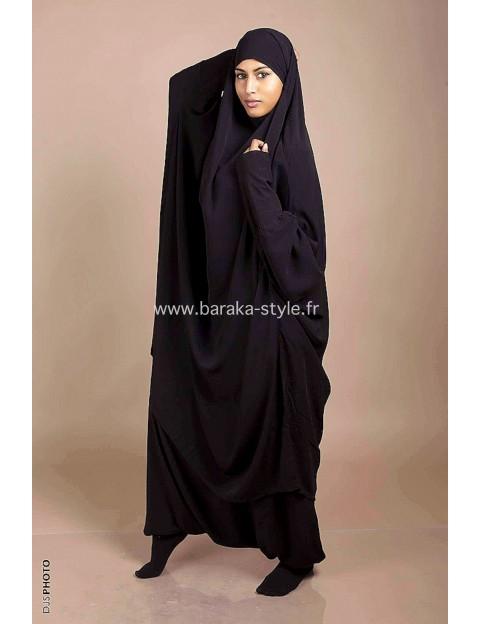 Jilbab Sarouel Noir