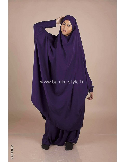 Jilbab Sarouel Violet foncé