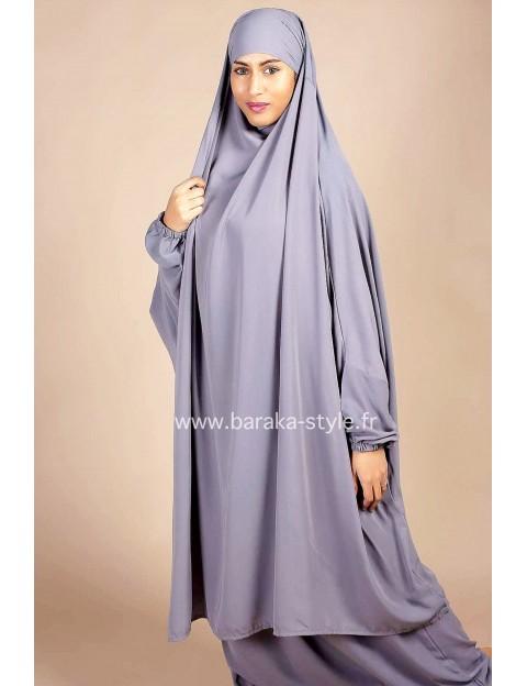 Jilbab Jupe Gris clair