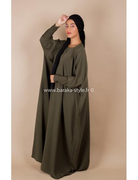 Abaya Vert Kaki
