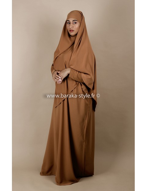 Ensemble Abaya-Khimar Camel