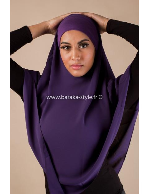 Hijab Noura Violet