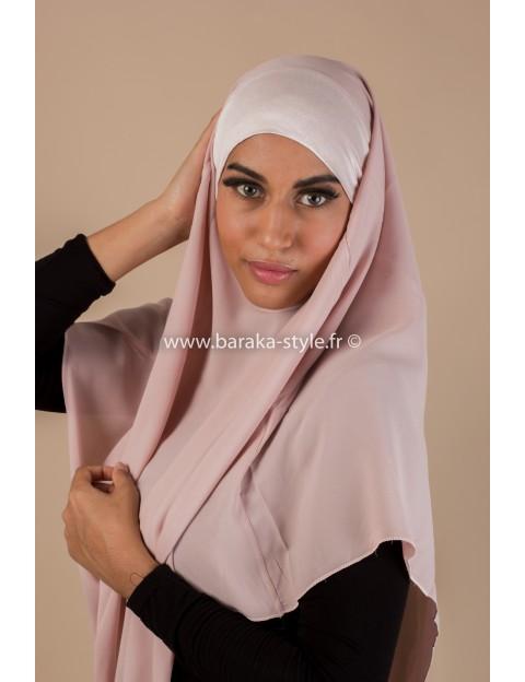 Hijab Noura Rose-poudré