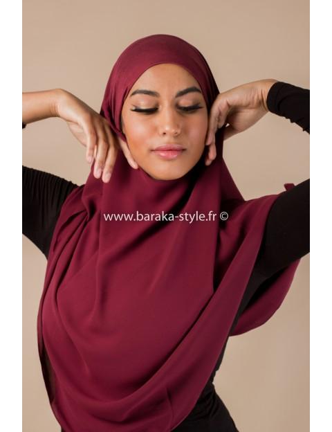 Hijab Noura Rouge-bordeaux