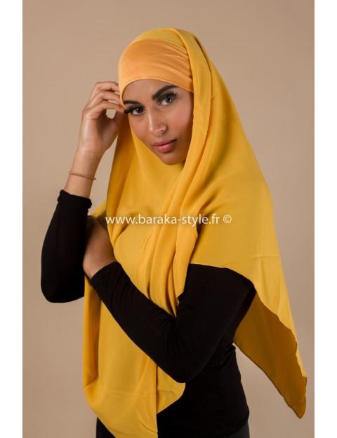 Hijab Noura Moutarde