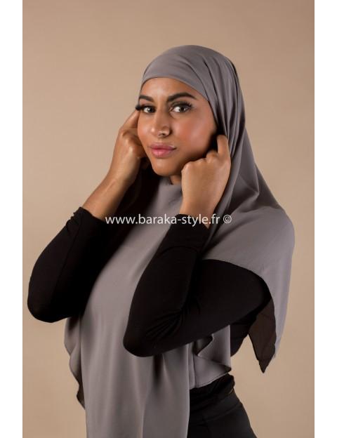 Hijab Noura Gris