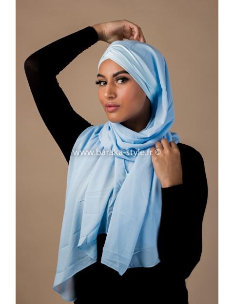 Hijab Malia Bleu-ciel