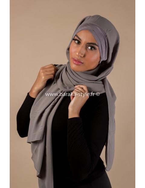 Hijab Malia Gris-foncé