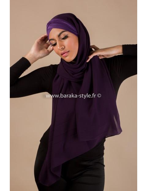 Hijab Malia Violet-foncé
