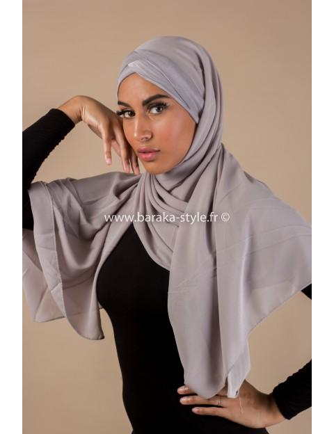 Hijab Malia Gris-clair