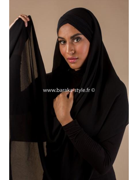 Hijab Malia Noir