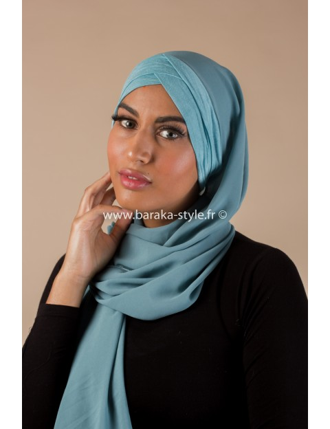 Hijab Malia Bleu d'eau