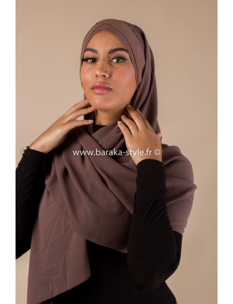 Hijab Malia Marron-foncé